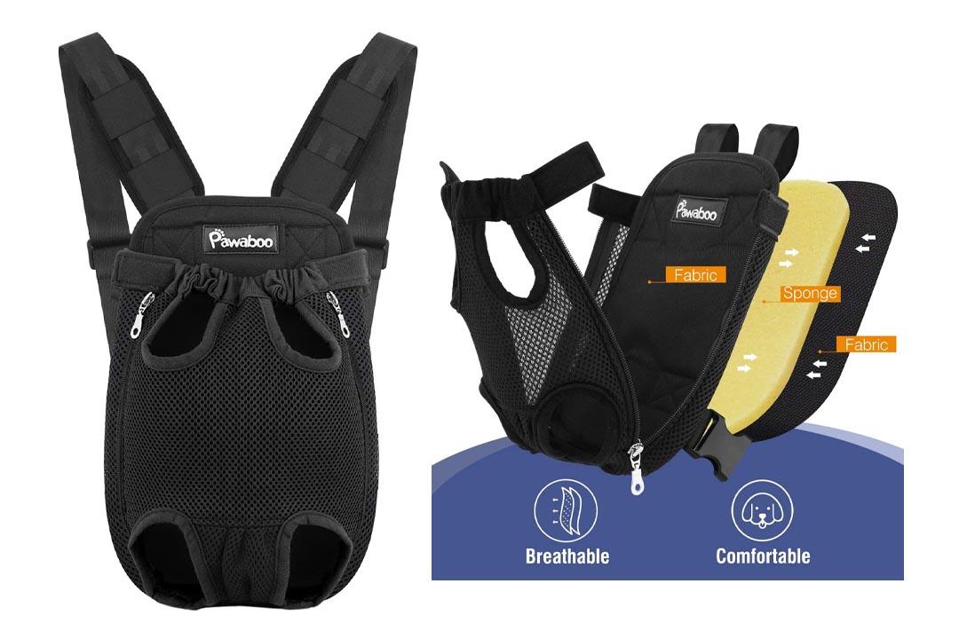 Pawaboo Pet Carrier Backpack, Adjustable Pet Front Cat Dog Carrier Backpack Travel Bag