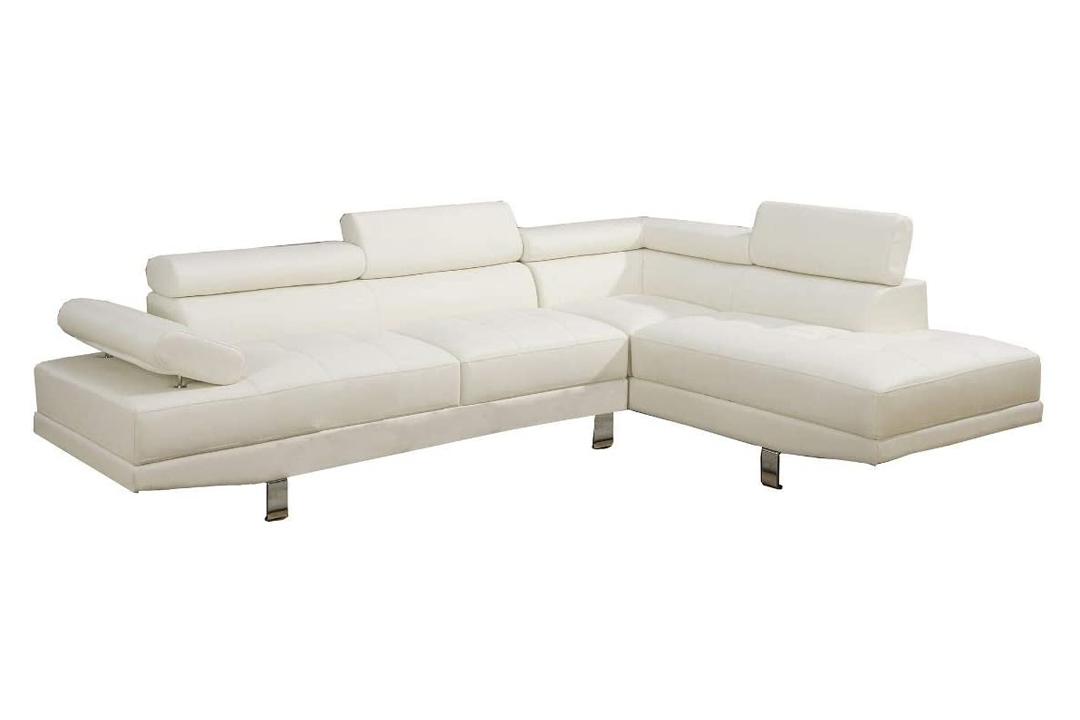 Poundex, Modern 2 piece Faux Leather Sofa
