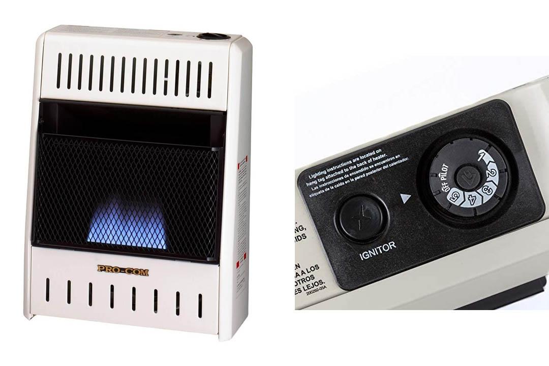 ProCom ML060HBA Liquid Propane Flame Space Heater Wall