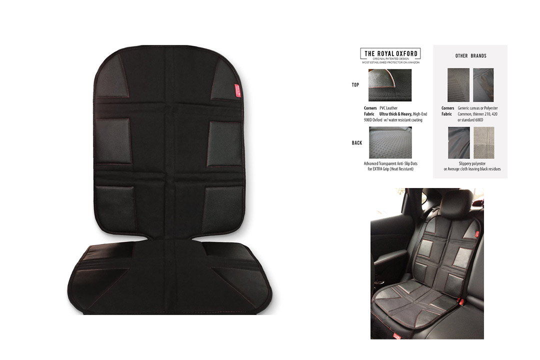 ROYAL OXFORD Luxury Car Seat Protector, Gorilla 900 Oxford, for Dark Seats