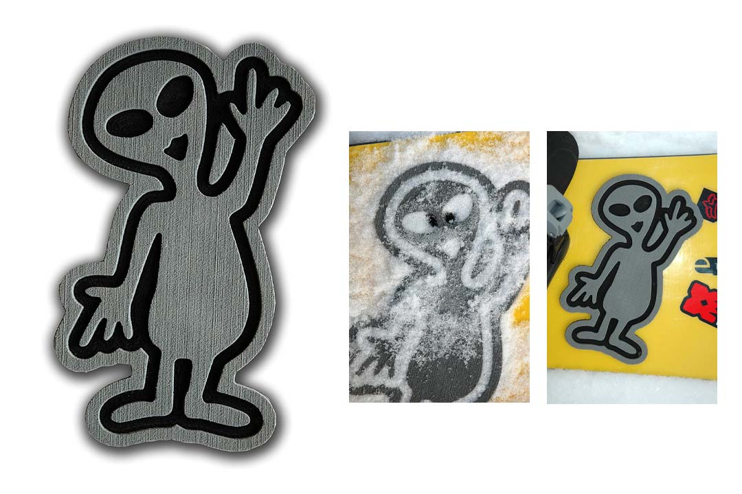 ToeJamR Stomp Pad - Alien - Gray
