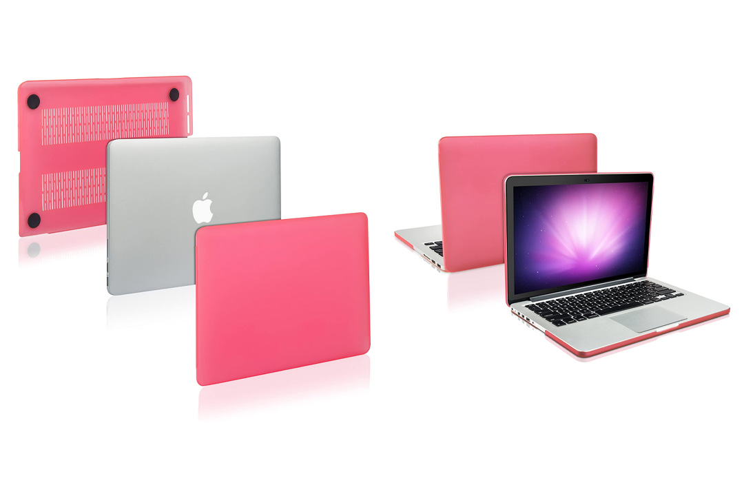 TopCase Pink Rubberized Hard Cover 13.3-inch + TopCase Mouse Pad