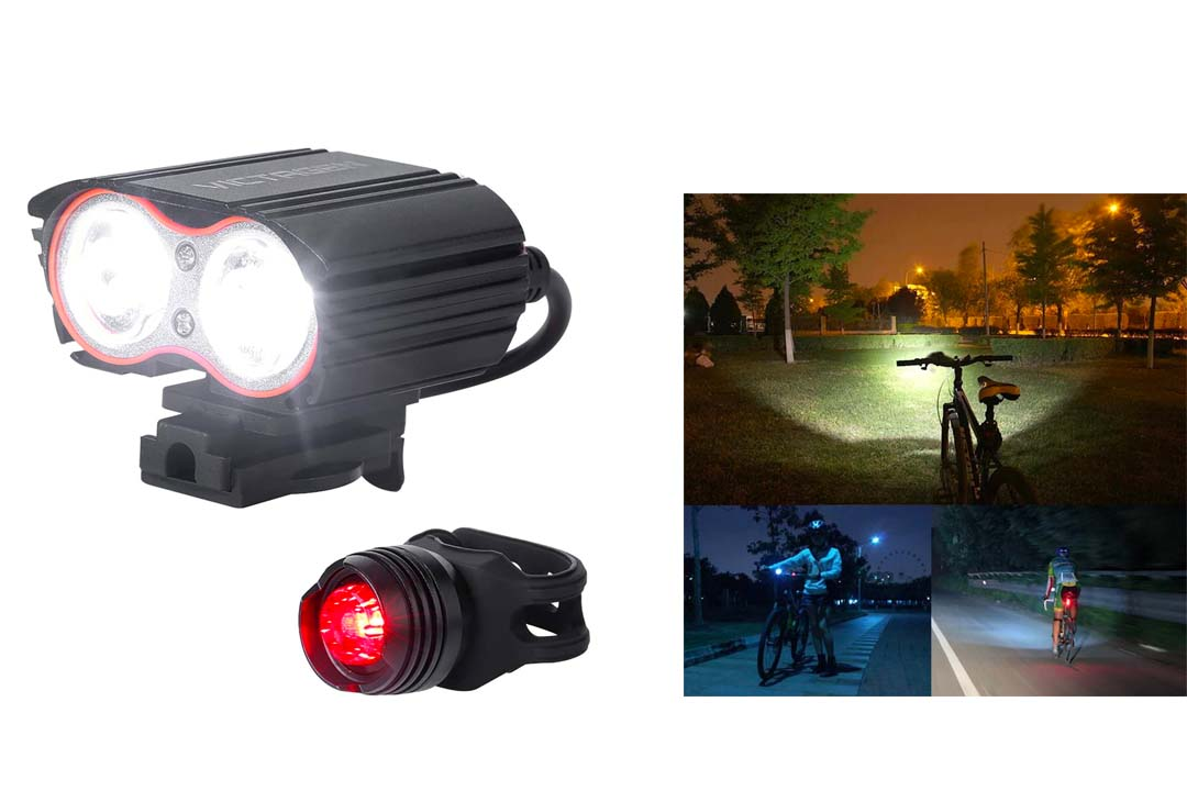 Victagen Bike Front Light,Super Bright Waterproof Bicycle light,USB Rechargeable cycle light