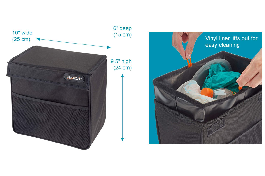Weighted Leak Proof High Road Trash Stand