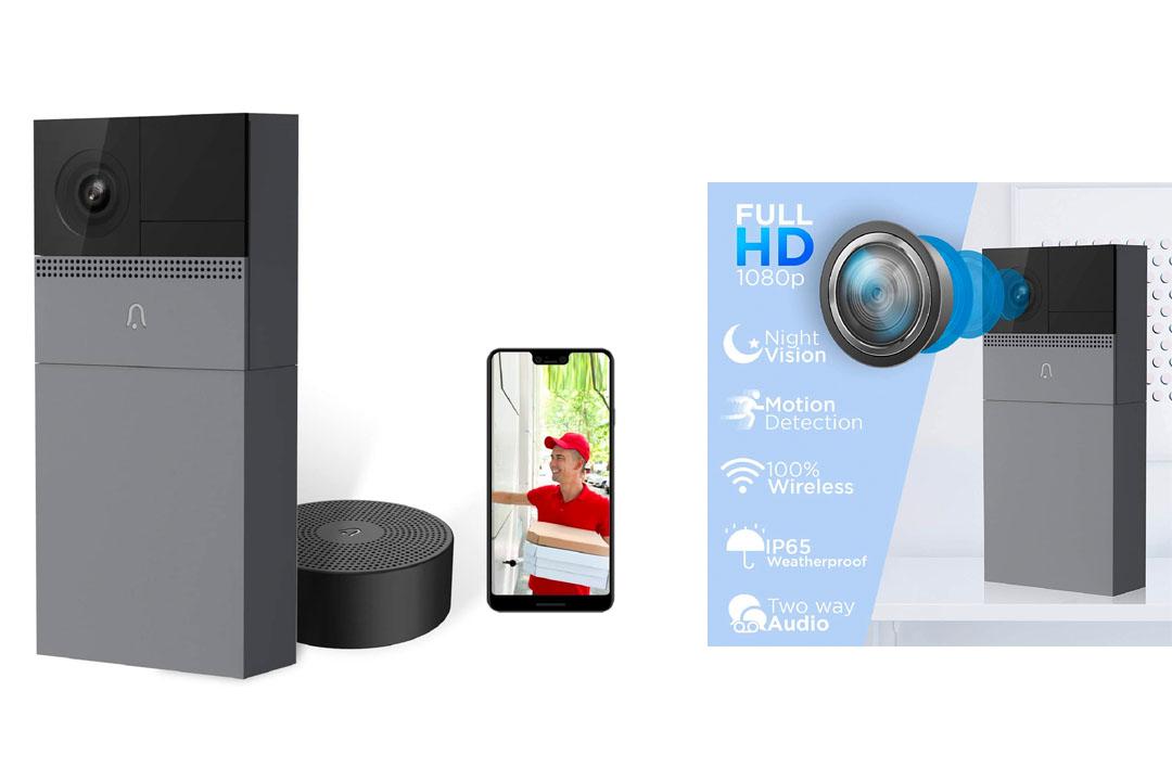 Wireless Security Video Doorbell with Camera, B1 Smart WIFI Door Bell with Motion Detector