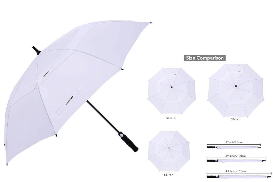 ZEKAR 54/62/68 Inch Windproof Large Golf Umbrella