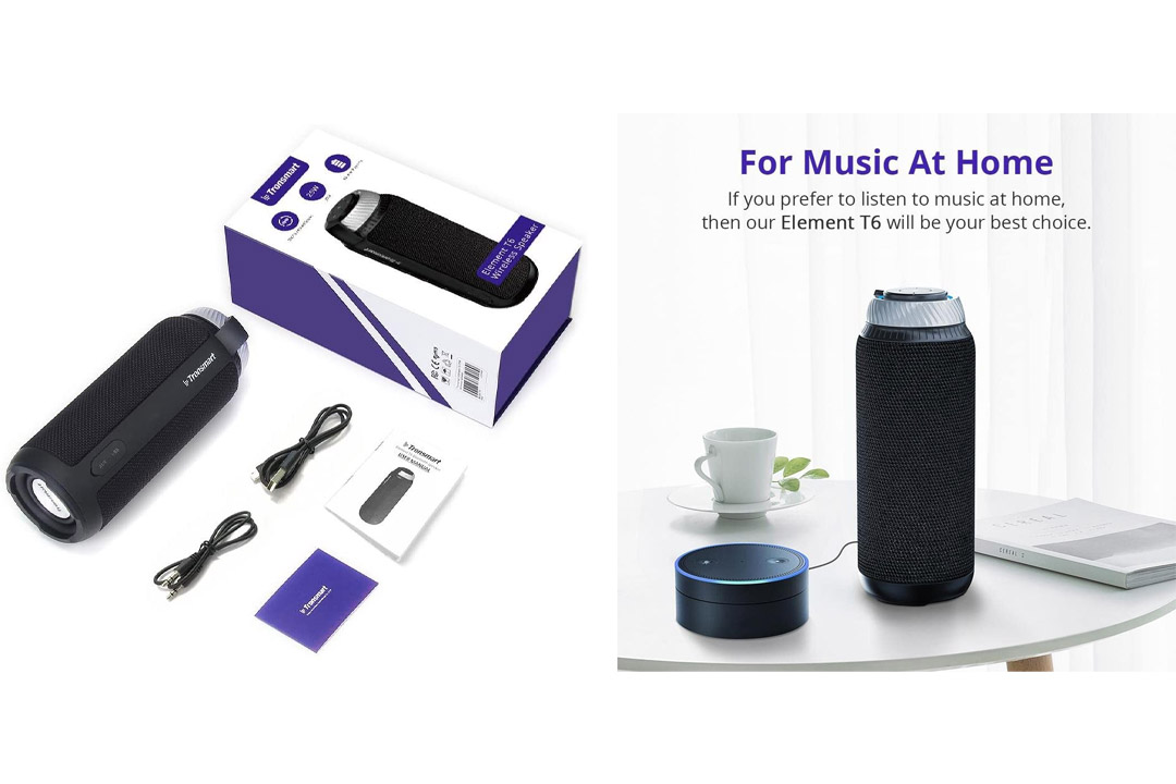 BMR Bluetooth 4.0 Visor Handsfree Two-Speaker Speakerphone Car kit