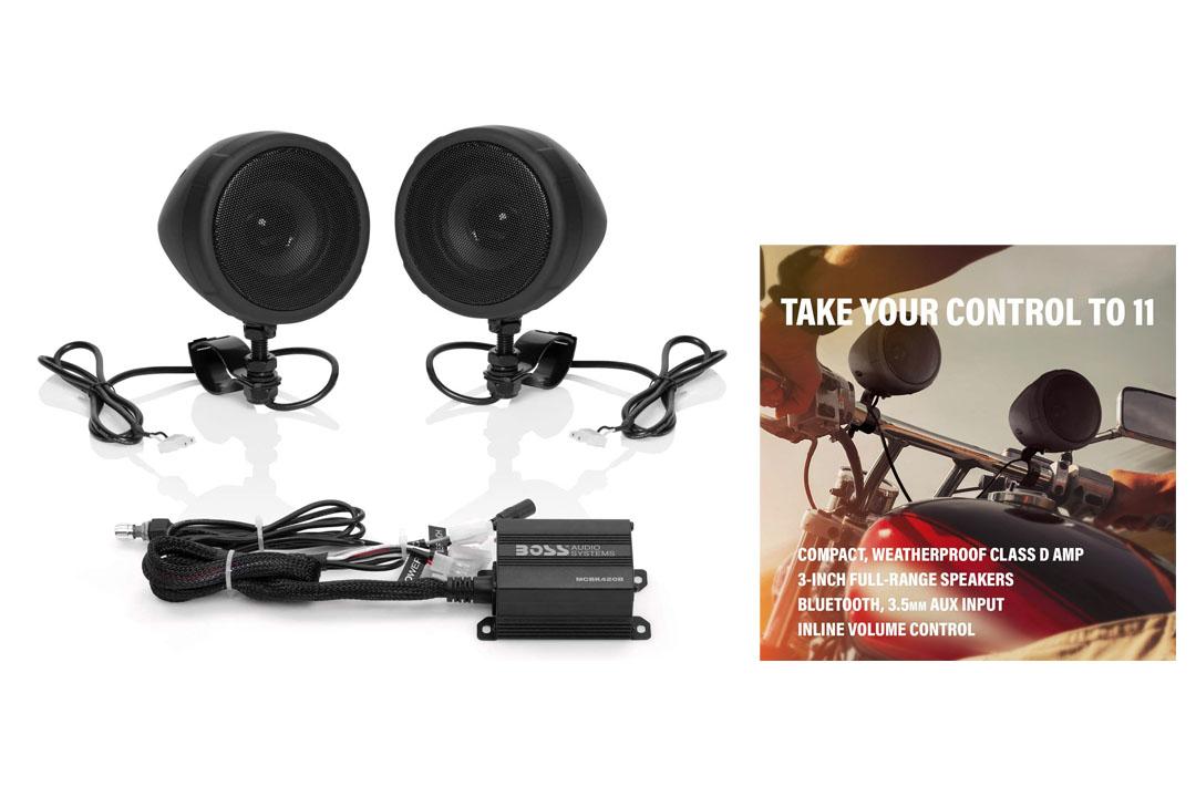 BOSS Audio MCBK420B Bluetooth, All-Terrain, Weatherproof Speaker And Amplifier Sound System