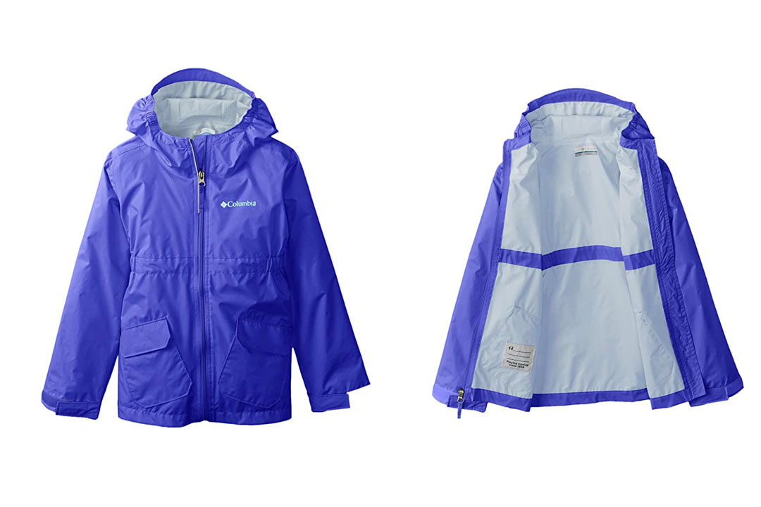 Big Girl's Columbia Trail Trooper Rain Jacket
