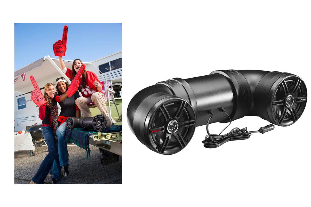 Boss Audio Systems ATV6B Amplified Sound System, Weatherproof Speaker