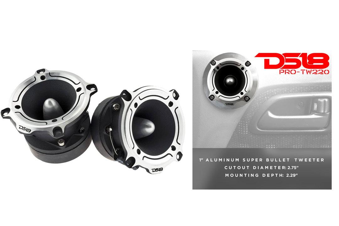 DS18 Super Bullet Tweeter 350 Watts Max Titanium PRO-TW210 - (Pair)