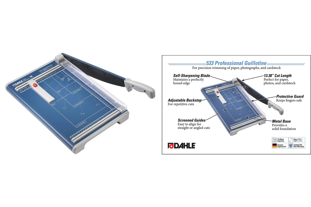 Dahle 533 Professional Guillotine, Grade: 12 to 12, 3'' Height, 11.25'' Width, 17.75'' Length