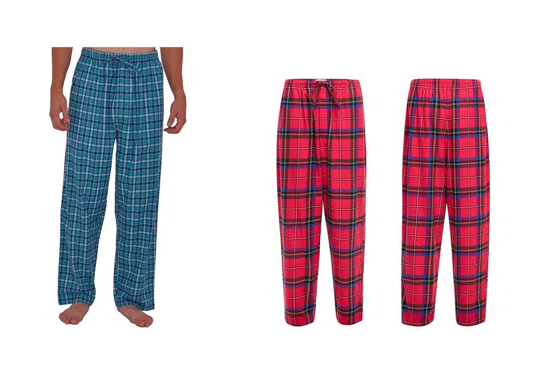 Del Rossa Men's 100% Cotton Flannel Pajama Pants - Sleep Bottoms