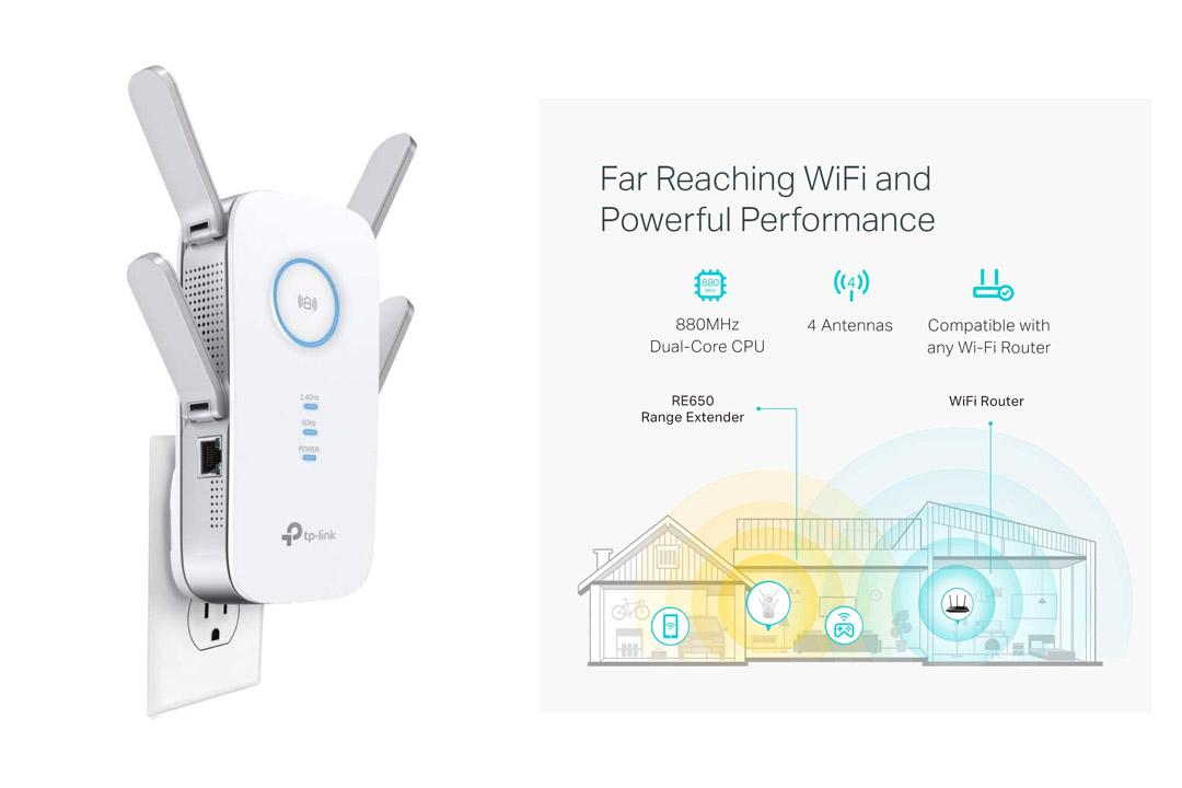 Gigabit Ethernet Wi-Fi Range Extender