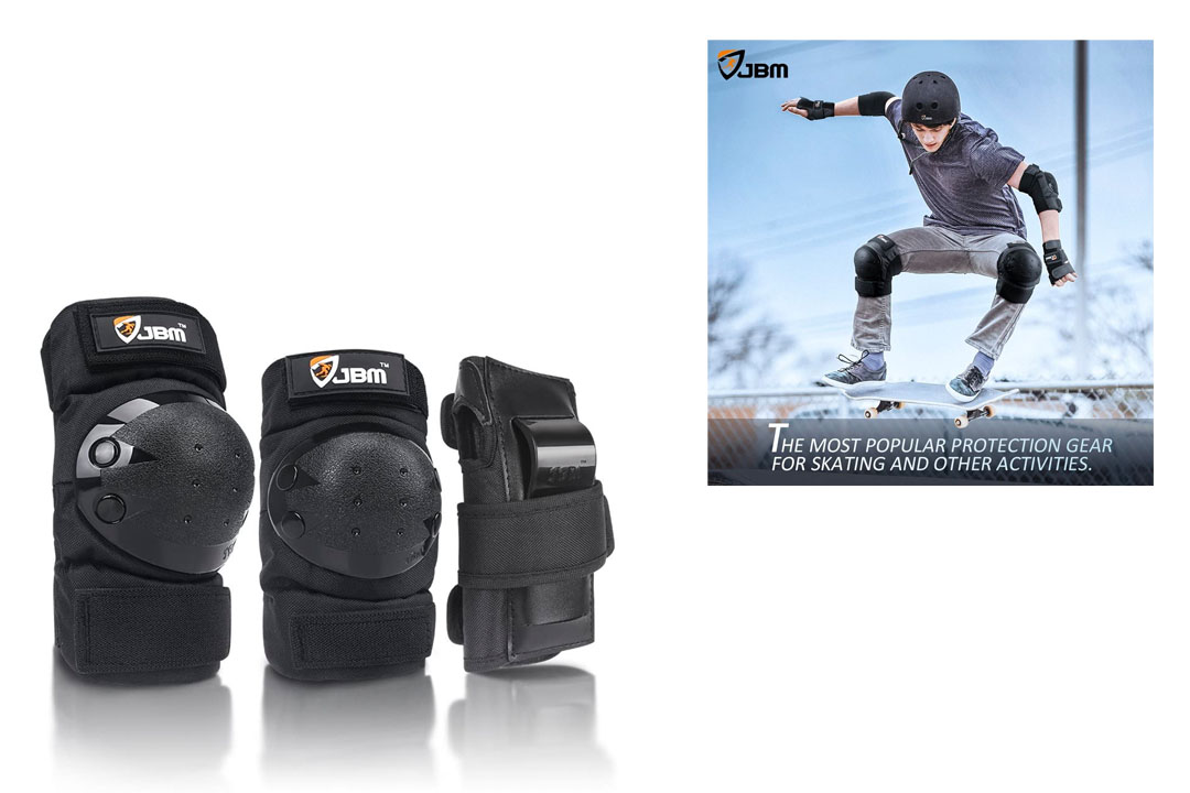 JBM Adult/Child Knee Pads Elbow Pads Wrist Guards 3 in 1 Protective Gear Set