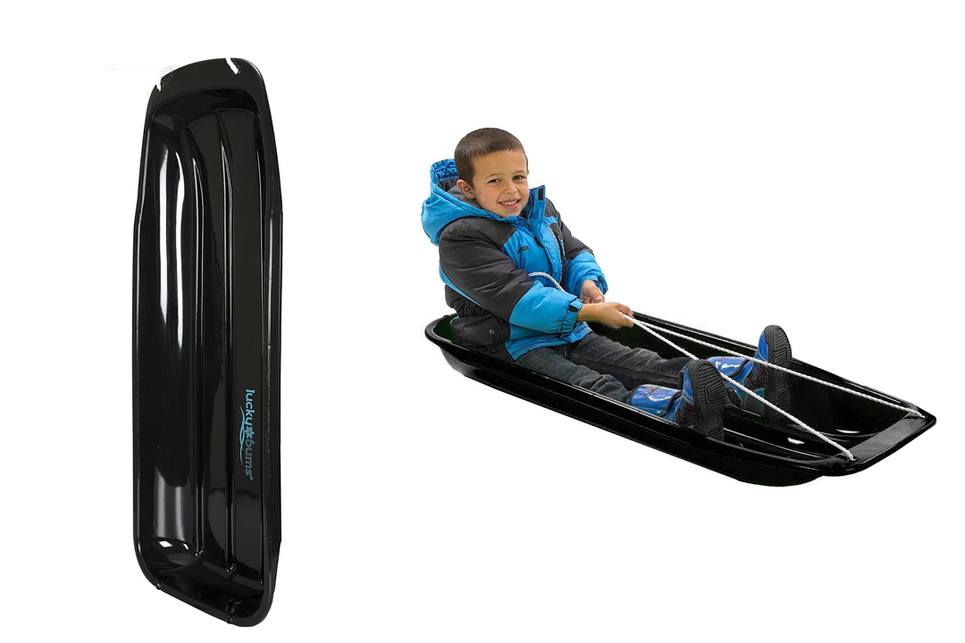 "Lucky Bums Snow Kids Toboggan Sled (Black, 48"")"