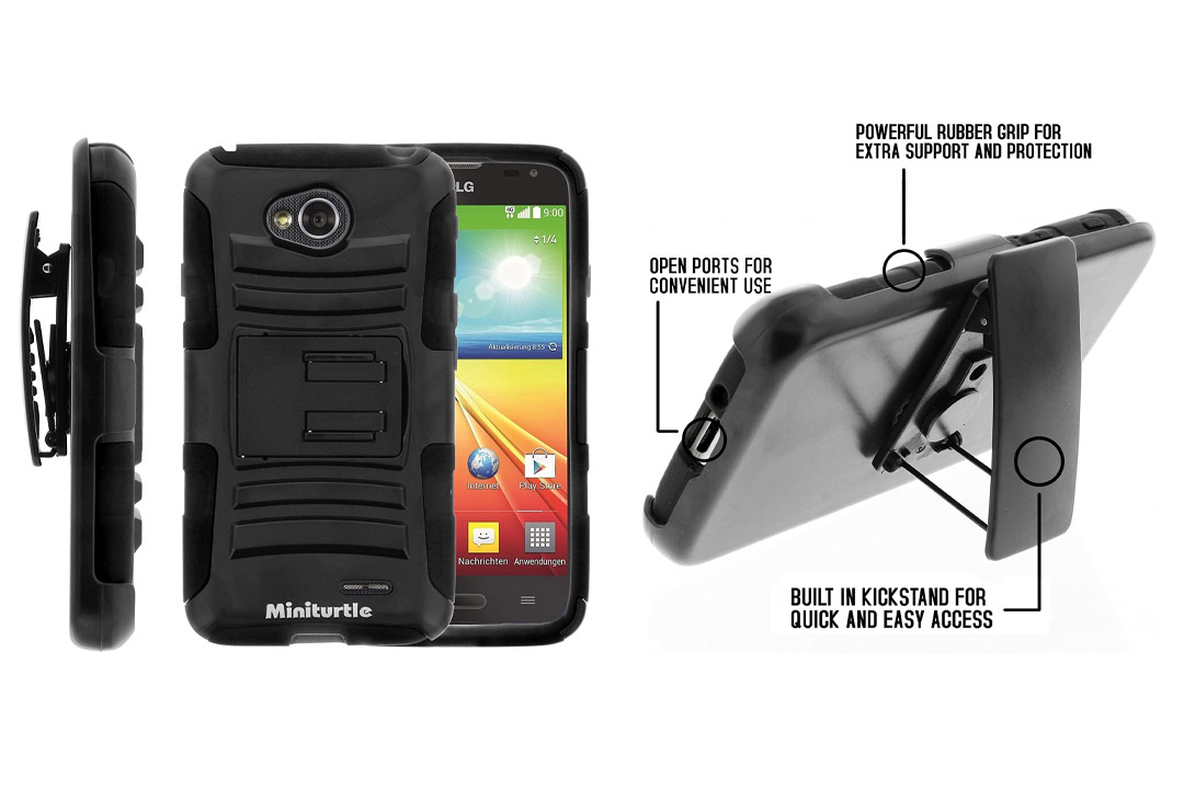 MINITURTLE, High Impact Rugged Hybrid Dual Layer Protective Phone Armor Case Cover