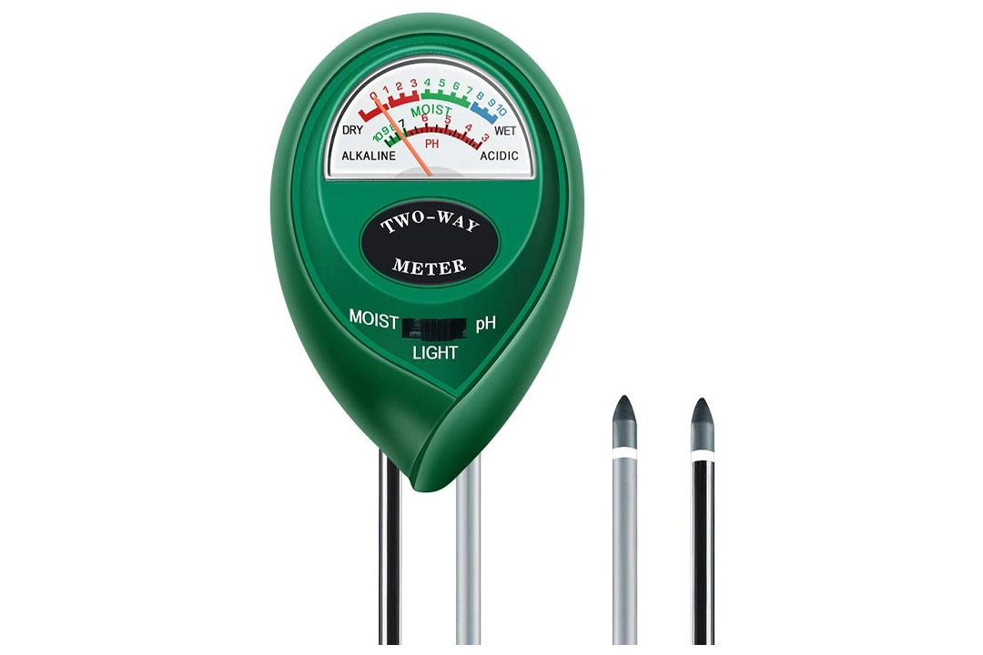 MacDoDo 3-in-1 Soil Moisture Meter, Light and PH acidity Tester, Plant Tester