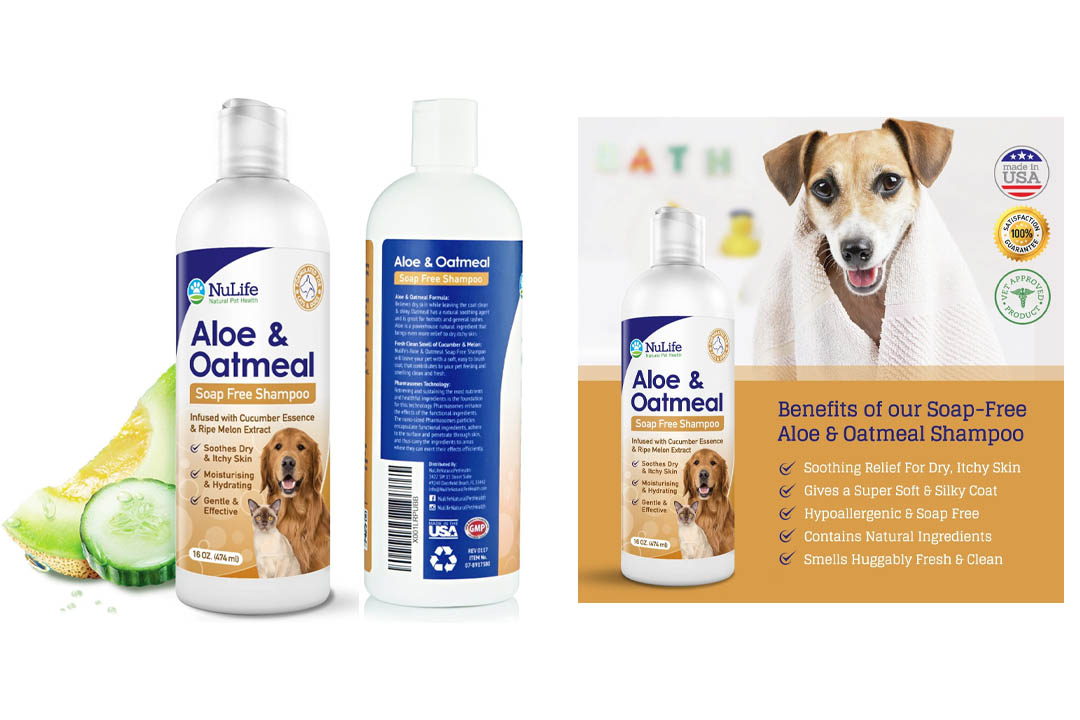 Oatmeal Shampoo For Dogs With Soothing Aloe Vera