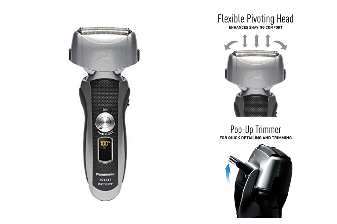 Panasonic ES-LT41-K Arc3 Electric Razor Wet/Dry with Flexible Pivoting Head for Men