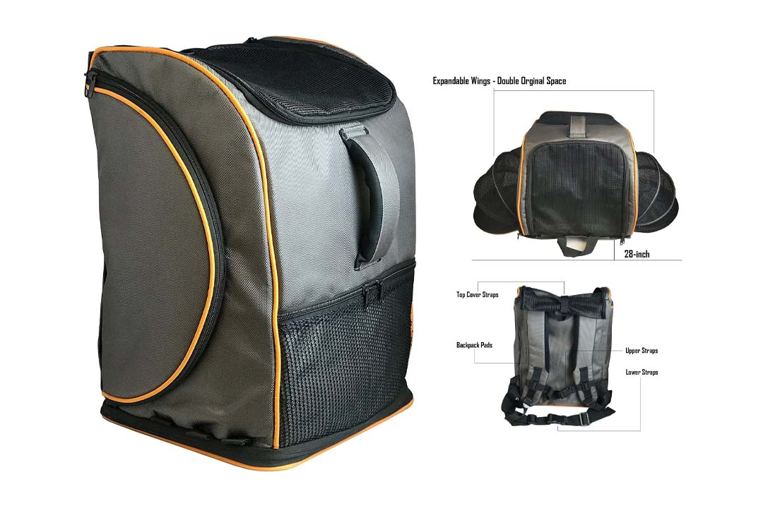 Pet Travel Carrier Backpack [Airline Approved] Premium All-In-One Carrier by Pet Magasin