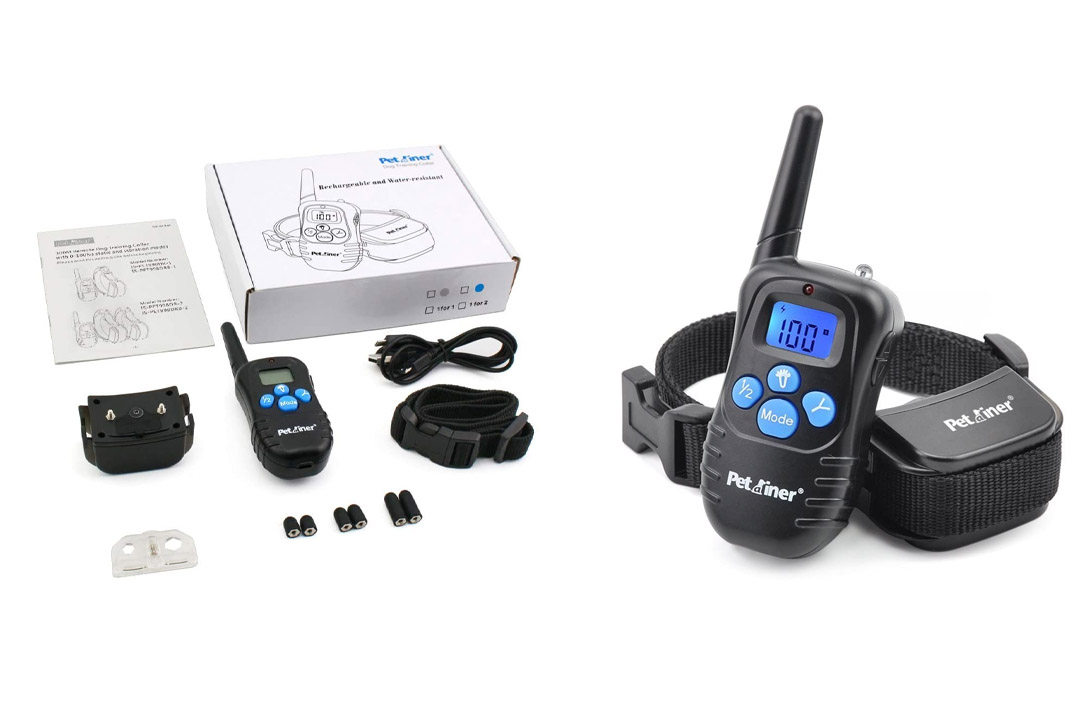 Petrainer Dog Training Collar Rechargeable and Rainproof 330 yd Remote Dog Training Collar