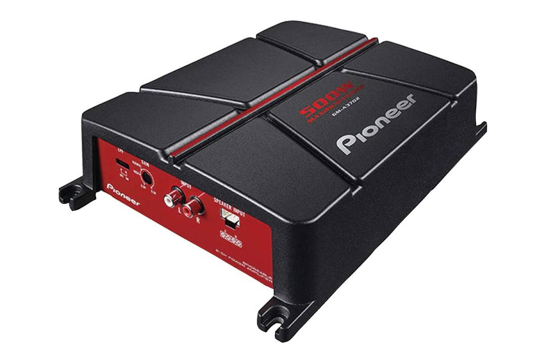Pioneer GM-A3702 2-Channel Bridgeable Amplifier, Black/red
