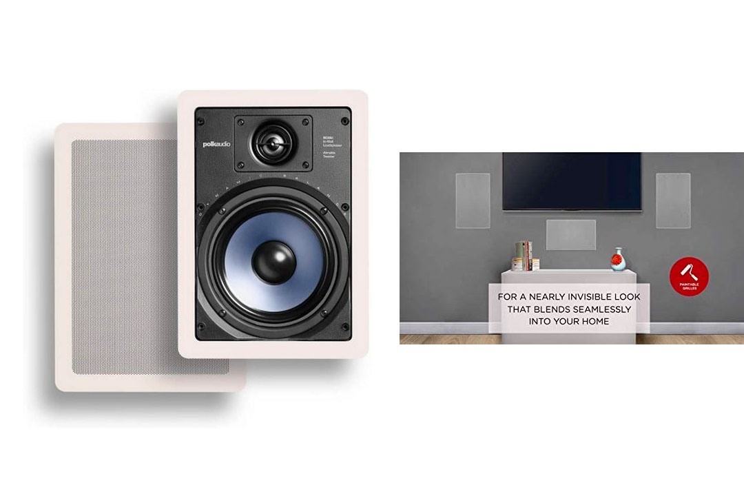 Polk Audio RC65i 2-Way In-Wall Speakers (Pair, White)