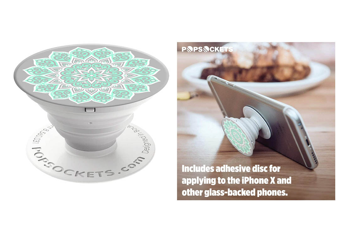 PopSockets: Collapsible Grip & Stand for Phones and Tablets - Peace Mandala Tiffany