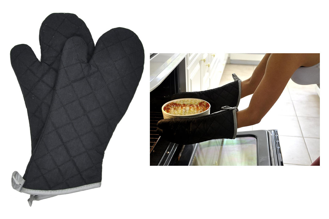 Retardant Quilted Oven Mitts