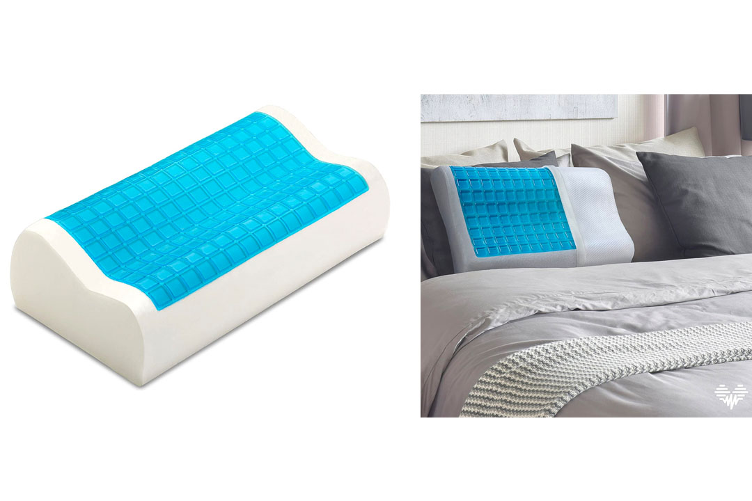 Snuggle-Pedic Ultra-Luxury Bamboo Shredded Memory Foam Pillow Combination With Adjustable Fit and Zipper Removable