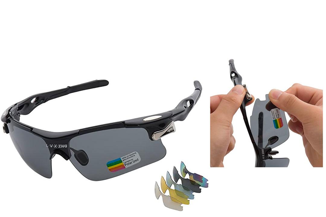 Sports Sunglasses, L•V•X•ING LVX548 Men's Polarized Sunglasses