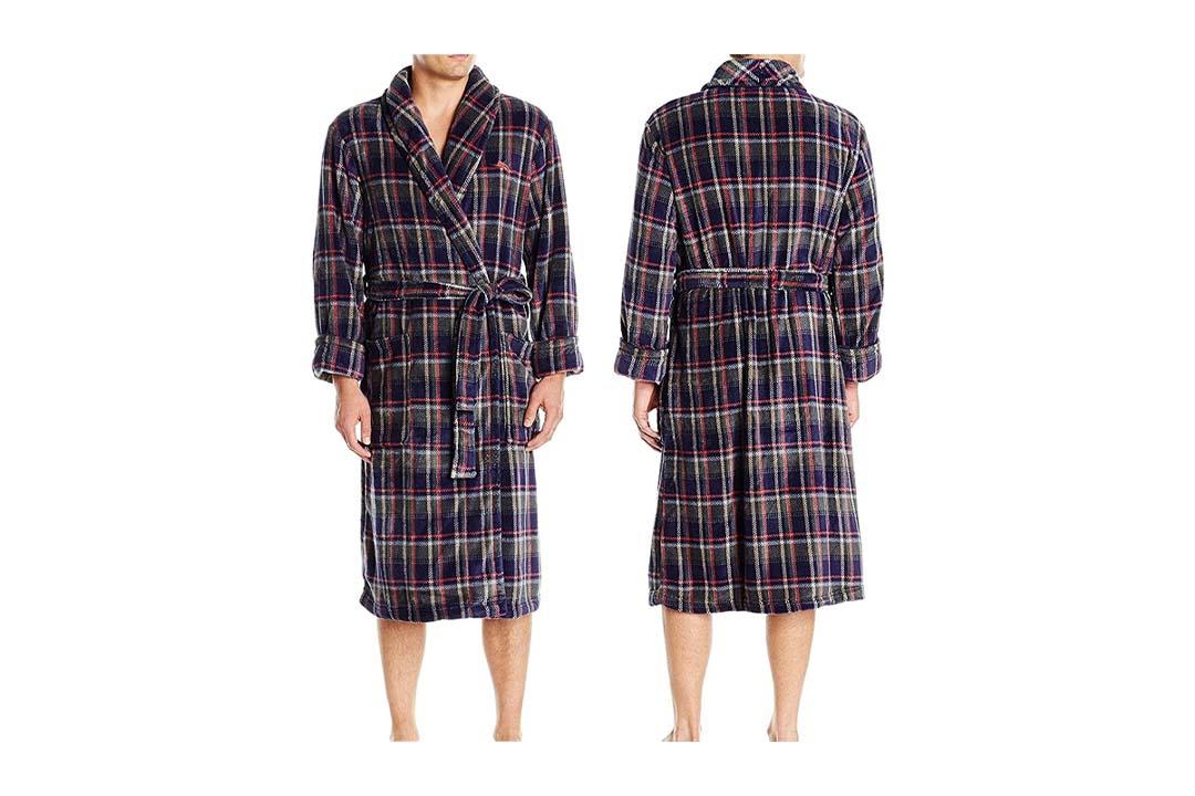 Tommy Bahama Men's Printed Plush Robe