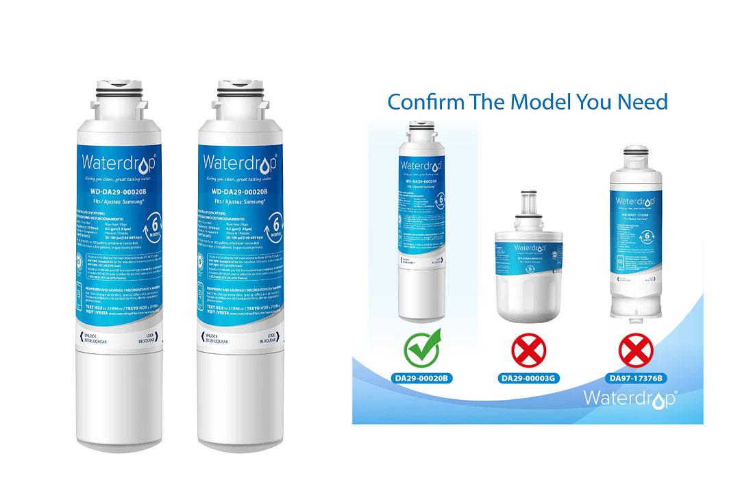 Waterdrop DA29-00020B Fits for Samsung DA29-00020B Water Filter