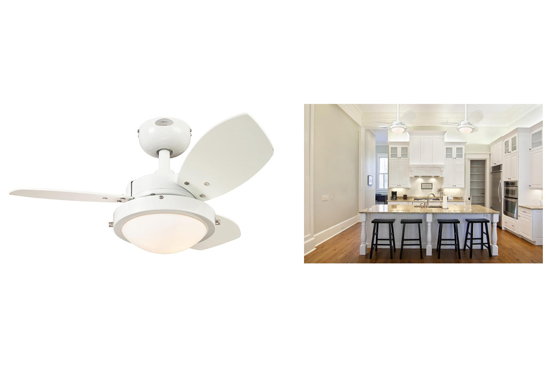 Westinghouse Three-Blade White Ceiling Fan