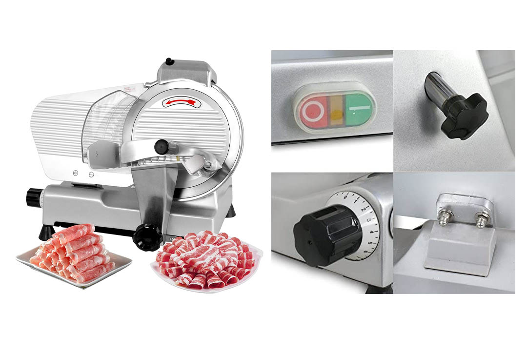 """ZENY 10"""" Blade Commercial Meat Slicer 240W 530 RPM Electric Deli Cheese Food Slicer"""