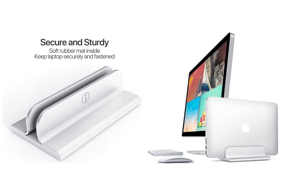 iQunix Edin Adjustable Vertical Laptop Stand for MacBook Pro/Air