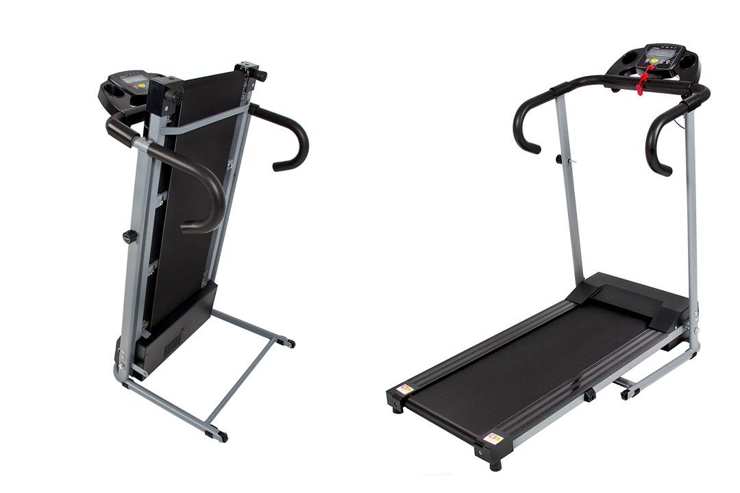 Black 500W Portable Motorized Treadmill Running Machine