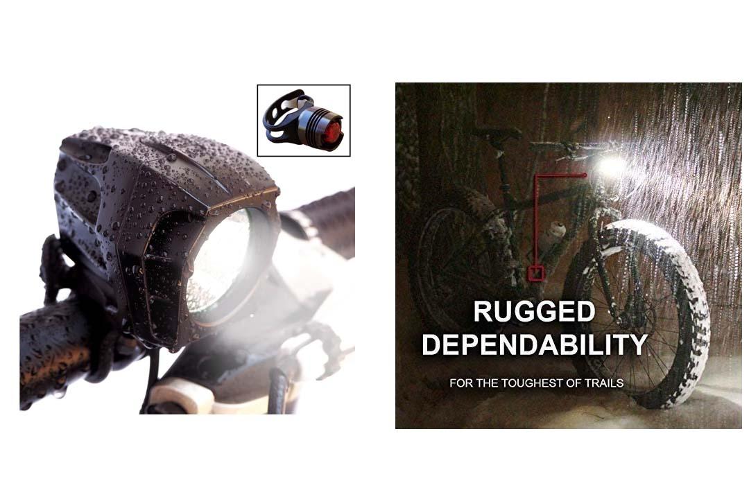 Bright Eyes FULLY WATERPROOF 1600 lumen Rechargeable Mountain, Road Bike Headlight