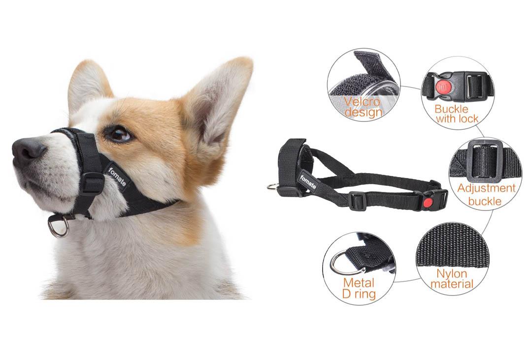 Dog muzzle, Quick fit gentle head collar walk training loop stop pulling halter