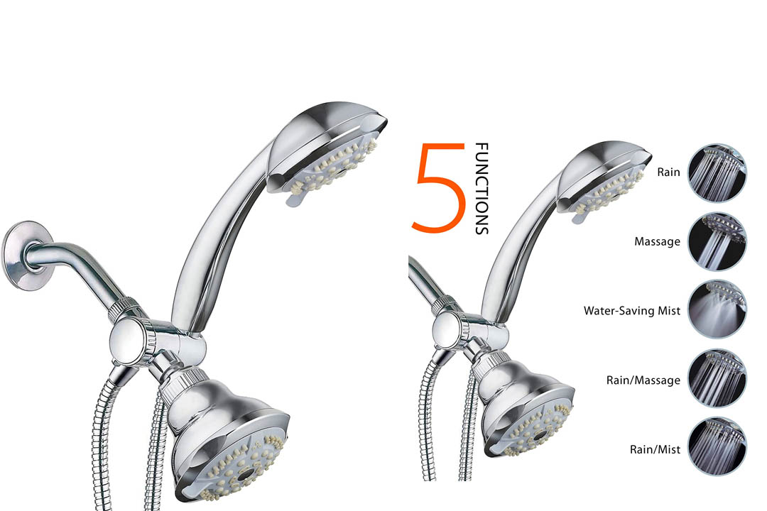 DreamSpa 19-setting 3-way 2 in 1 Luxury Shower Combo