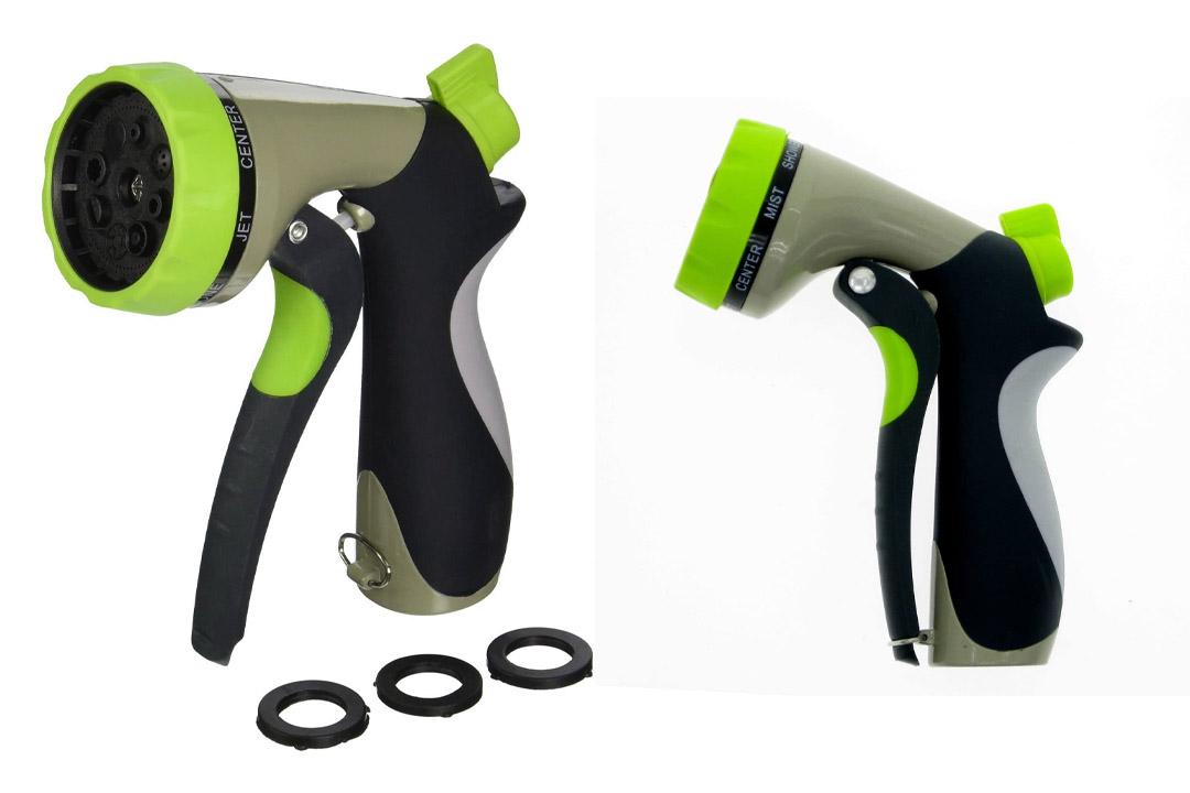 Garden Hose Spray Nozzle - 8 Pattern High-Pressure Hand Sprayer HOMWE