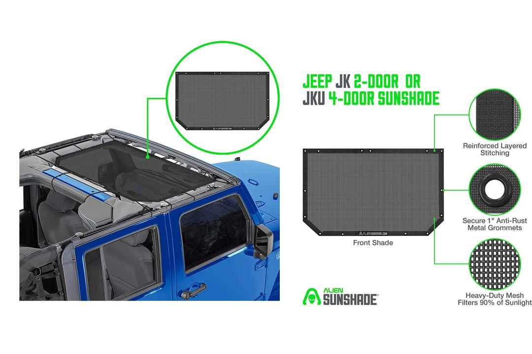 Jeep Wrangler Alien Sunshade