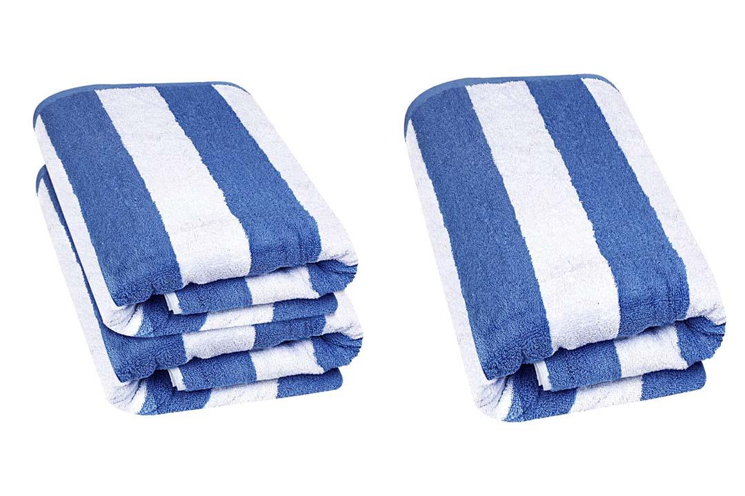 Large Beach-Towel in Cabana Stripe