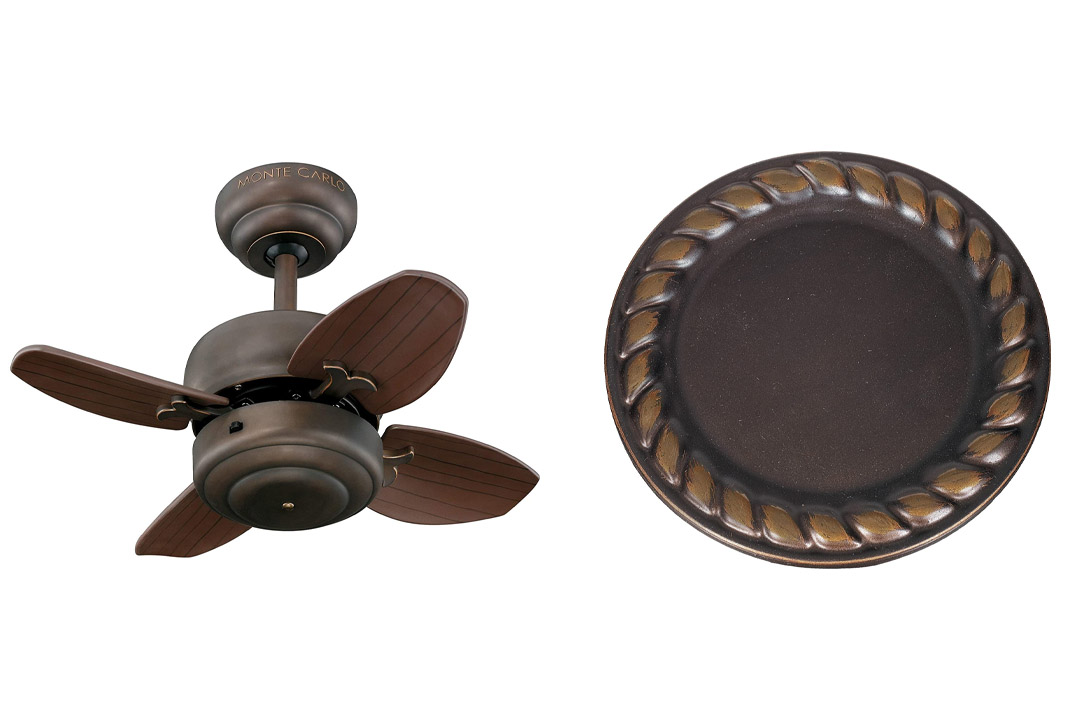 Monte Carlo Mini Ceiling Fan with Four Blades