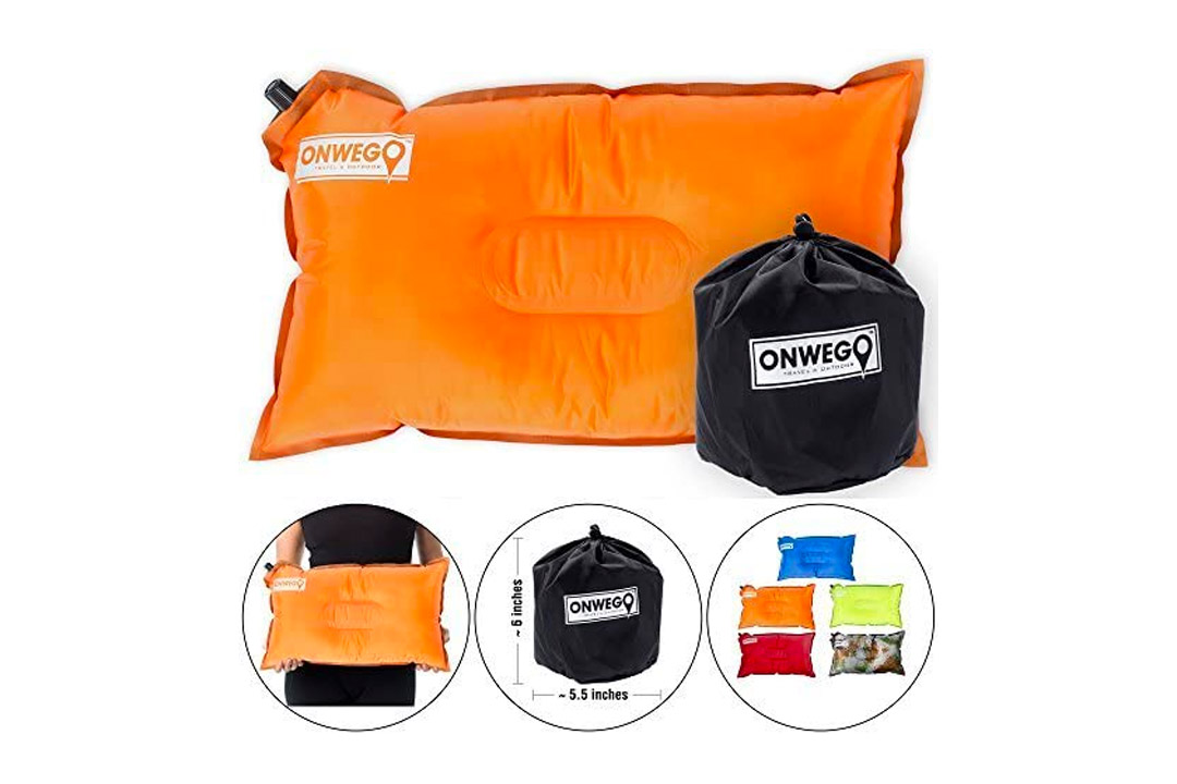 ONWEGO Best Inflatable Travel Pillow, Self Inflating Travel Pillow