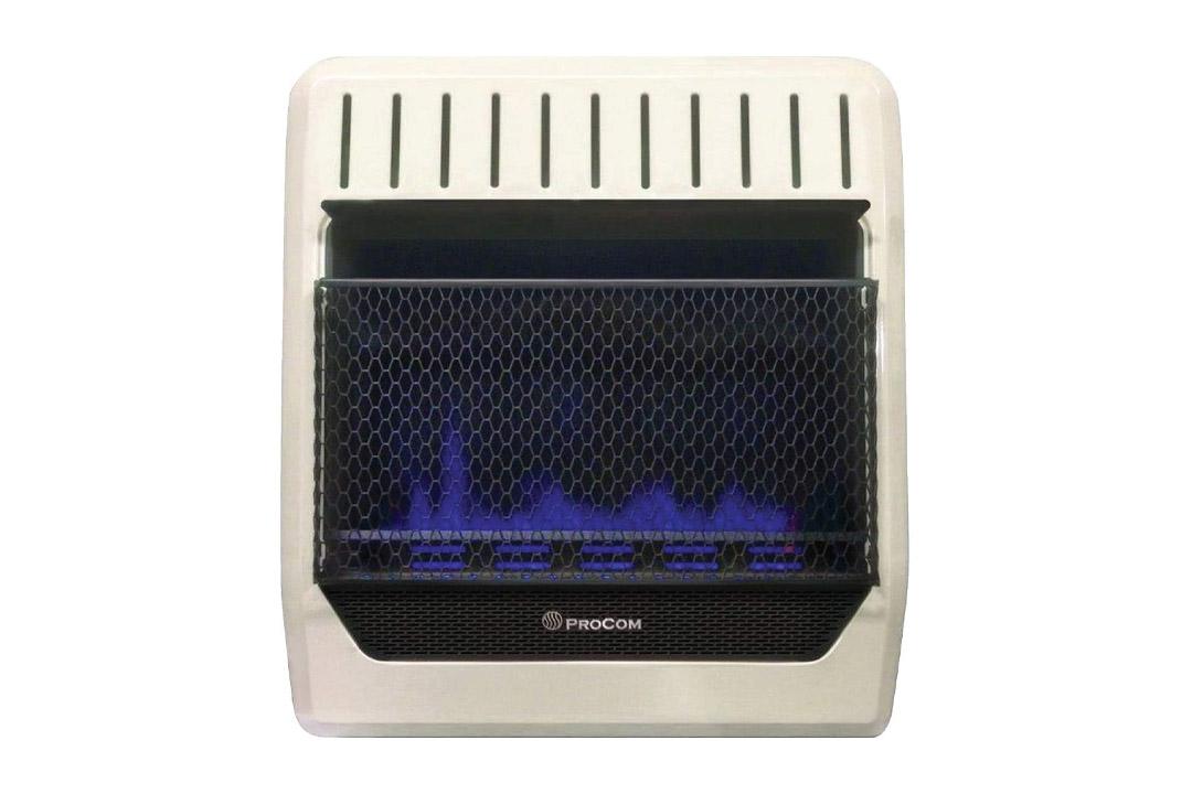 ProCom MG20TBF Ventless Dual Fuel Blue Flame Wall Heater, 20,000 BTU