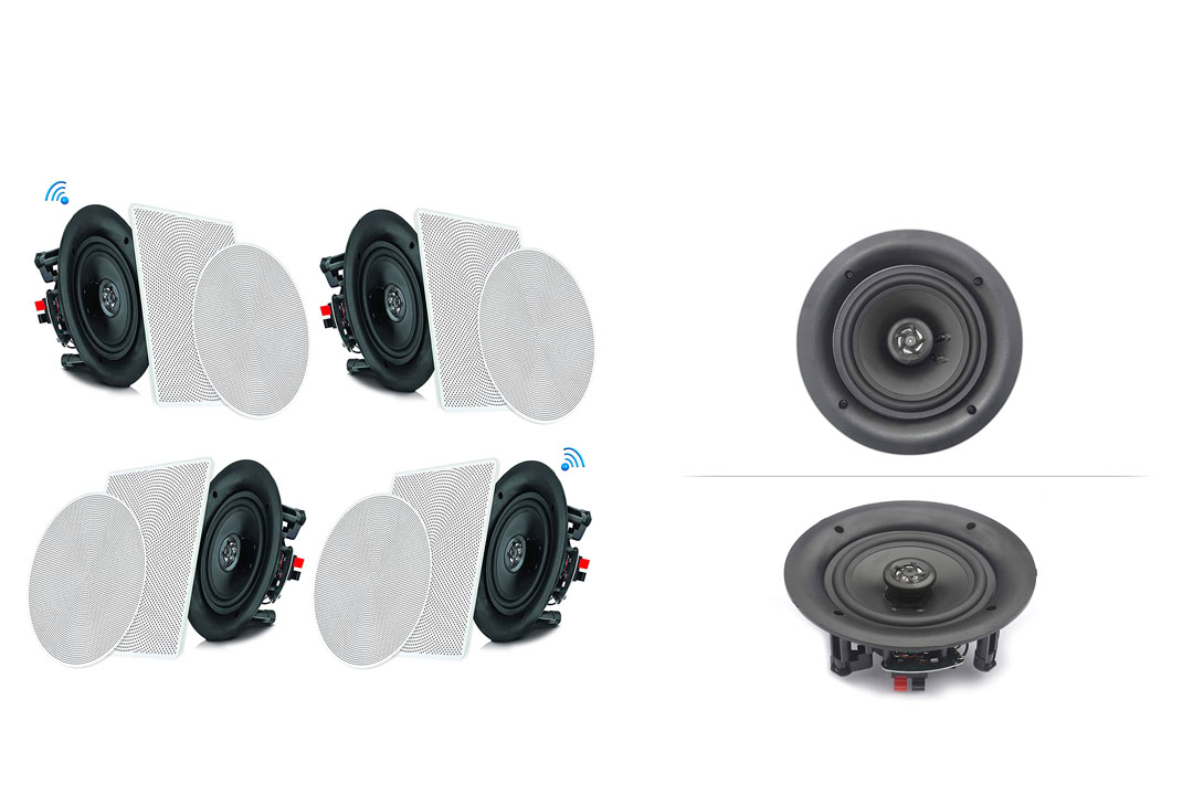 """Pyle 6.5"""" 4 Bluetooth Flush Mount In-wall In-ceiling 2-Way Speaker System"""