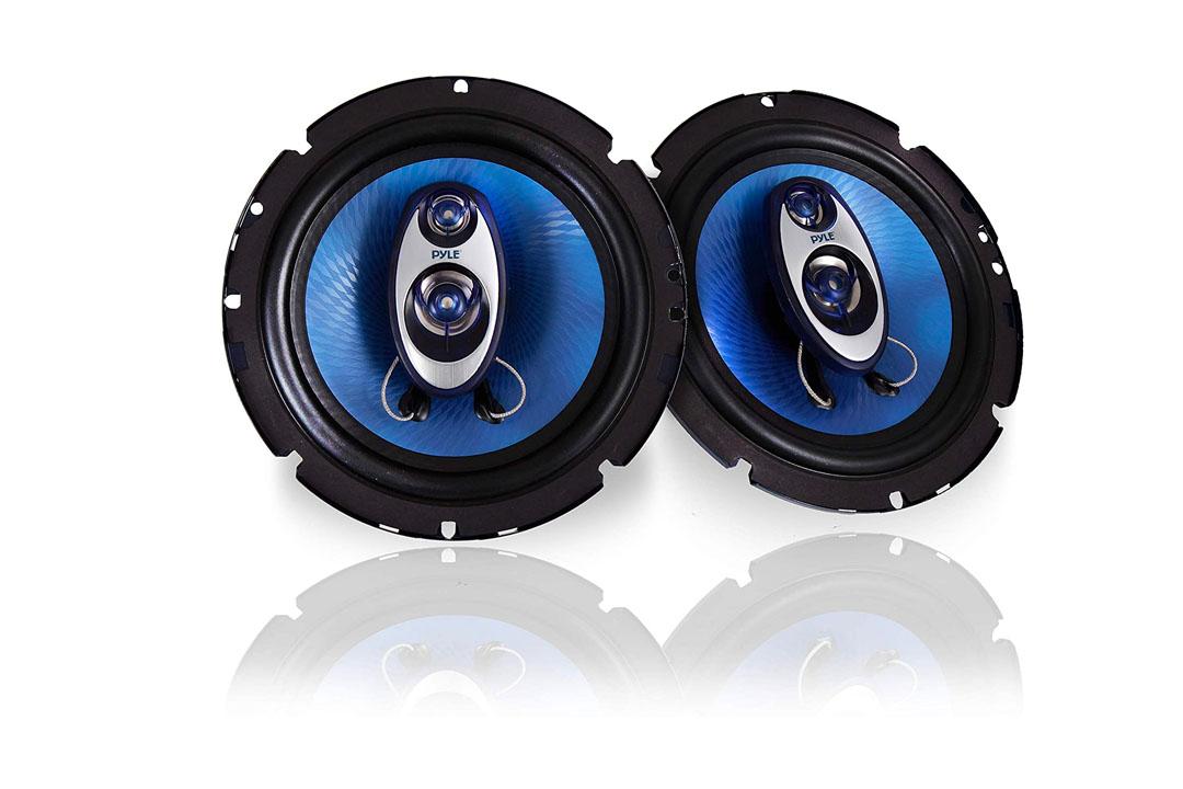 Pyle 6.5'' Three-Way Sound Speaker System - Round Shaped Pro Full Range Speakers