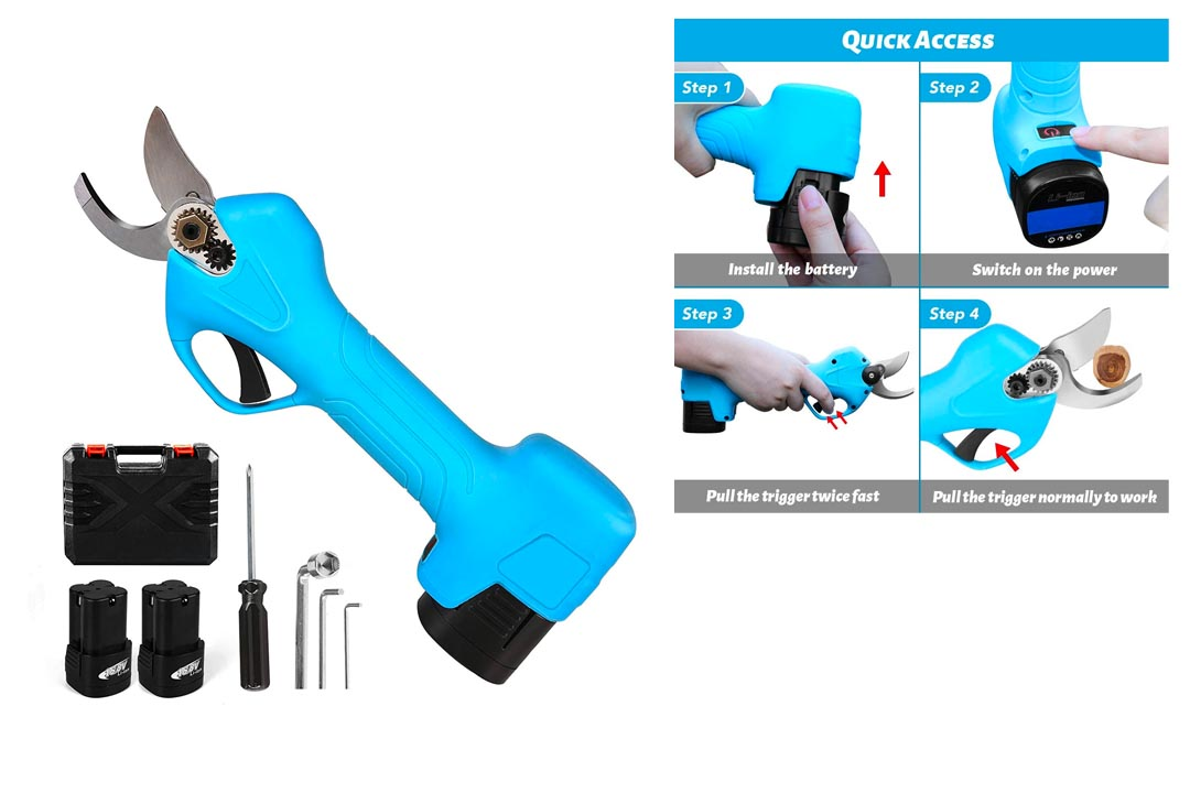 QYTOOL Professional Cordless Electric Pruning Shears